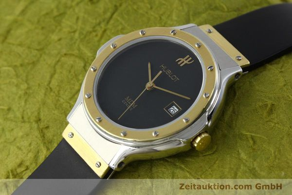 Used luxury watch Hublot MDM steel / gold quartz Kal. ETA 956.112 Ref. 13911002  | 150082 01