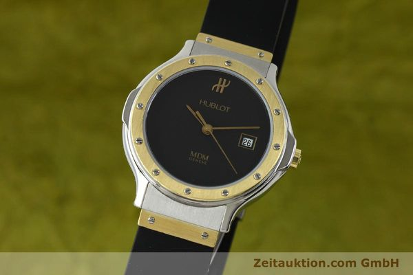 Used luxury watch Hublot MDM steel / gold quartz Kal. ETA 956.112 Ref. 13911002  | 150082 04