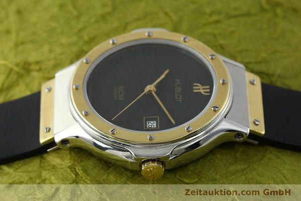 Used luxury watch Hublot MDM steel / gold quartz Kal. ETA 956.112 Ref. 13911002  | 150082 05