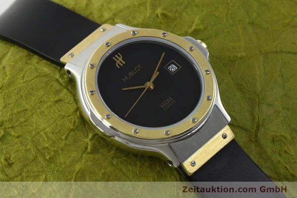 Used luxury watch Hublot MDM steel / gold quartz Kal. ETA 956.112 Ref. 13911002  | 150082 12