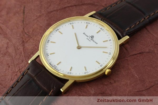Used luxury watch Baume & Mercier * 18 ct gold quartz Kal. BM9098 ETA 210001 Ref. 15603005  | 150090 01