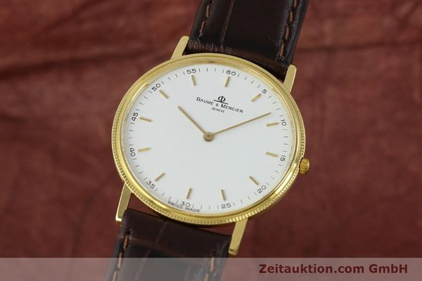 Used luxury watch Baume & Mercier * 18 ct gold quartz Kal. BM9098 ETA 210001 Ref. 15603005  | 150090 04