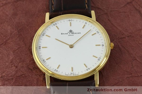 Used luxury watch Baume & Mercier * 18 ct gold quartz Kal. BM9098 ETA 210001 Ref. 15603005  | 150090 12