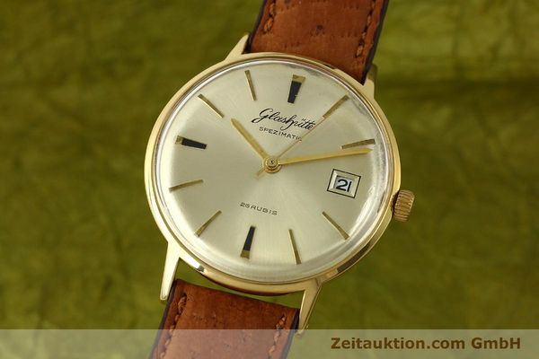 Used luxury watch Glashütte Spezimatic gold-plated automatic Kal. 75  | 150093 04