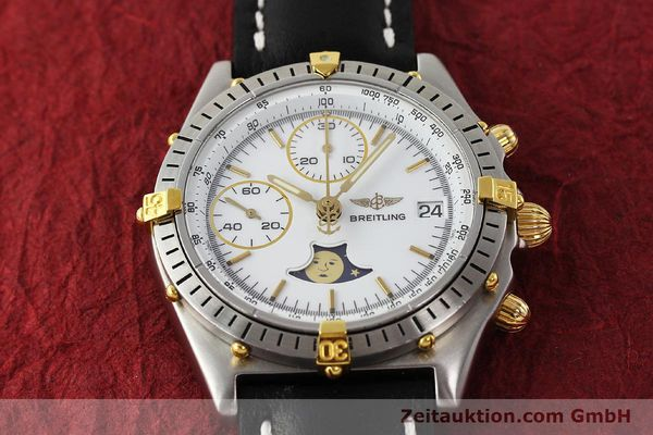 Used luxury watch Breitling Chronomat chronograph steel / gold automatic Kal. VAL 7758 Ref. 81950  | 150095 14