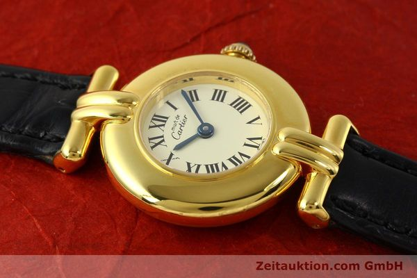 Used luxury watch Cartier Vermeil silver-gilt quartz Kal. 90  | 150100 12