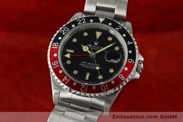 Used luxury watch Rolex GMT-Master II steel automatic Kal. 3185 Ref. 16710  | 150102 04