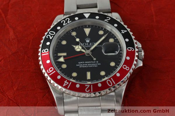 Used luxury watch Rolex GMT-Master II steel automatic Kal. 3185 Ref. 16710  | 150102 16