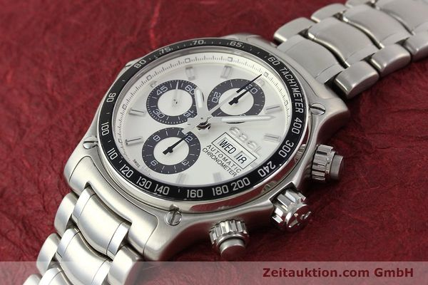 Used luxury watch Ebel 1911 chronograph steel automatic Kal. E750 Ref. 9750L62  | 150116 01