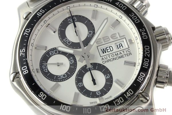 Used luxury watch Ebel 1911 chronograph steel automatic Kal. E750 Ref. 9750L62  | 150116 02