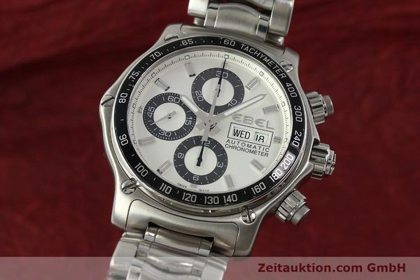 Used luxury watch Ebel 1911 chronograph steel automatic Kal. E750 Ref. 9750L62  | 150116 04
