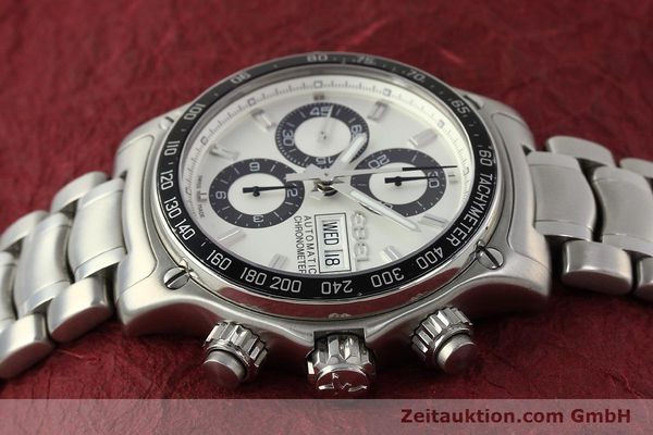 Used luxury watch Ebel 1911 chronograph steel automatic Kal. E750 Ref. 9750L62  | 150116 05
