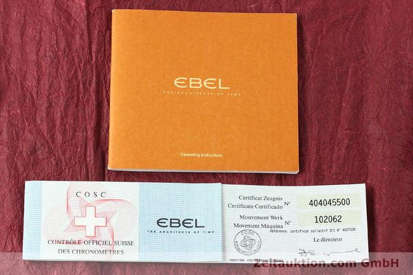 Used luxury watch Ebel 1911 chronograph steel automatic Kal. E750 Ref. 9750L62  | 150116 08