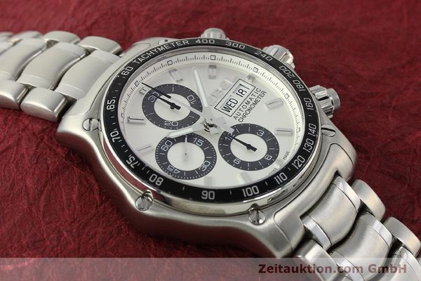 Used luxury watch Ebel 1911 chronograph steel automatic Kal. E750 Ref. 9750L62  | 150116 15