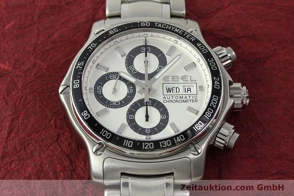 Used luxury watch Ebel 1911 chronograph steel automatic Kal. E750 Ref. 9750L62  | 150116 16