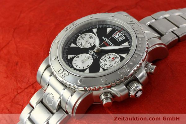 Used luxury watch Montblanc Flyback chronograph steel automatic Kal. 4810905 ETA 7750 Ref. 7059  | 150140 01