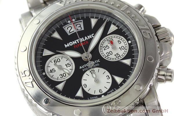 Used luxury watch Montblanc Flyback chronograph steel automatic Kal. 4810905 ETA 7750 Ref. 7059  | 150140 02
