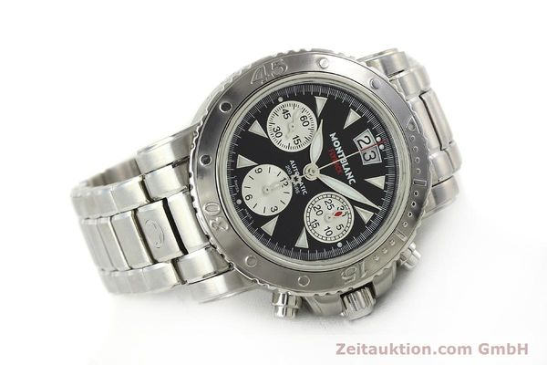Used luxury watch Montblanc Flyback chronograph steel automatic Kal. 4810905 ETA 7750 Ref. 7059  | 150140 03