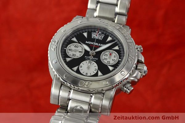 Used luxury watch Montblanc Flyback chronograph steel automatic Kal. 4810905 ETA 7750 Ref. 7059  | 150140 04