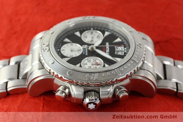 Used luxury watch Montblanc Flyback chronograph steel automatic Kal. 4810905 ETA 7750 Ref. 7059  | 150140 05