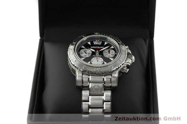Used luxury watch Montblanc Flyback chronograph steel automatic Kal. 4810905 ETA 7750 Ref. 7059  | 150140 07