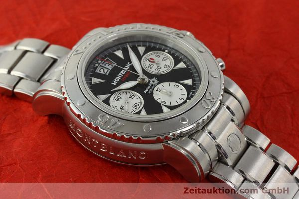 Used luxury watch Montblanc Flyback chronograph steel automatic Kal. 4810905 ETA 7750 Ref. 7059  | 150140 12