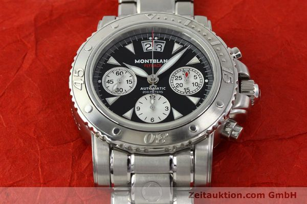 Used luxury watch Montblanc Flyback chronograph steel automatic Kal. 4810905 ETA 7750 Ref. 7059  | 150140 13
