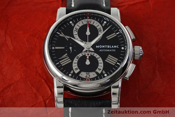 Used luxury watch Montblanc Star 4810 Chronograph chronograph steel automatic Kal. 4810501 ETA 7750 Ref. 7104  | 150143 14