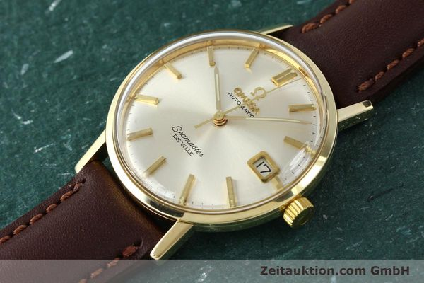 Used luxury watch Omega Seamaster 14 ct yellow gold automatic Kal. 562 VINTAGE  | 150151 01