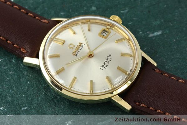 Used luxury watch Omega Seamaster 14 ct yellow gold automatic Kal. 562 VINTAGE  | 150151 13