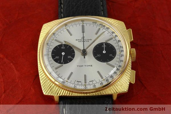 Used luxury watch Breitling Top Time chronograph gold-plated manual winding Kal. Valj. 7730 Ref. 2006 VINTAGE  | 150153 14