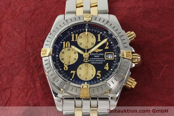 Used luxury watch Breitling Evolution chronograph steel / gold automatic Kal. B13 ETA 7750 Ref. B13356  | 150158 16