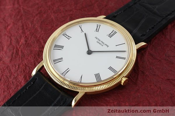 Used luxury watch Patek Philippe Calatrava 18 ct gold quartz Kal. E27 Ref. 3744  | 150162 01