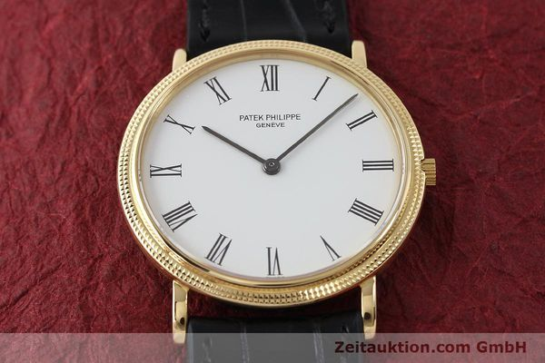 Used luxury watch Patek Philippe Calatrava 18 ct gold quartz Kal. E27 Ref. 3744  | 150162 16