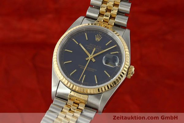 montre de luxe d occasion Rolex Datejust acier / or  automatique Kal. 3135 Ref. 16733  | 150166 04