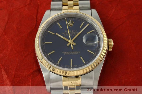 montre de luxe d occasion Rolex Datejust acier / or  automatique Kal. 3135 Ref. 16733  | 150166 17