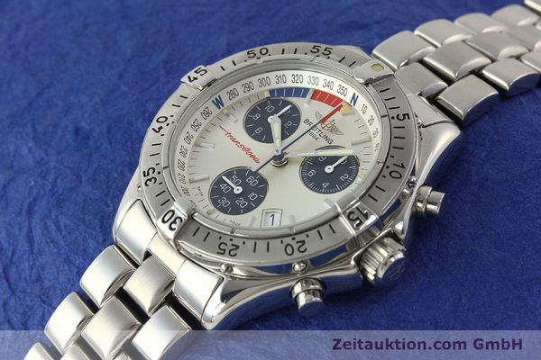 Used luxury watch Breitling Transocean chronograph steel quartz Kal. B53 ETA 251.262 Ref. A53040.1  | 150168 01