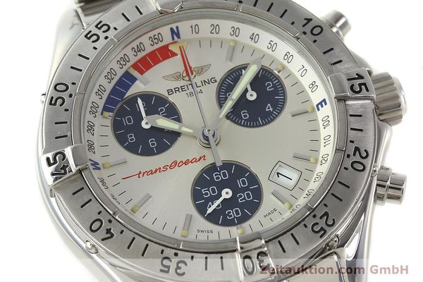 Used luxury watch Breitling Transocean chronograph steel quartz Kal. B53 ETA 251.262 Ref. A53040.1  | 150168 02