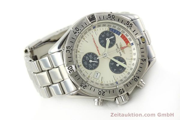 Used luxury watch Breitling Transocean chronograph steel quartz Kal. B53 ETA 251.262 Ref. A53040.1  | 150168 03