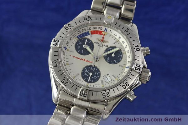 Used luxury watch Breitling Transocean chronograph steel quartz Kal. B53 ETA 251.262 Ref. A53040.1  | 150168 04
