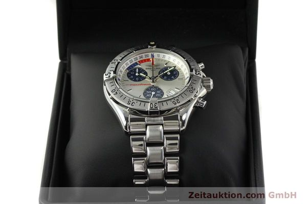 Used luxury watch Breitling Transocean chronograph steel quartz Kal. B53 ETA 251.262 Ref. A53040.1  | 150168 07