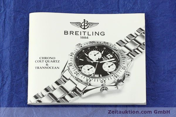 Used luxury watch Breitling Transocean chronograph steel quartz Kal. B53 ETA 251.262 Ref. A53040.1  | 150168 08
