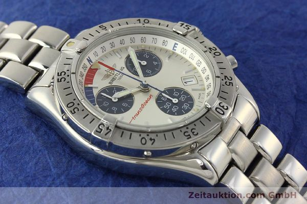 Used luxury watch Breitling Transocean chronograph steel quartz Kal. B53 ETA 251.262 Ref. A53040.1  | 150168 14