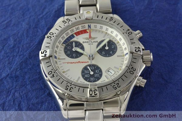 Used luxury watch Breitling Transocean chronograph steel quartz Kal. B53 ETA 251.262 Ref. A53040.1  | 150168 15