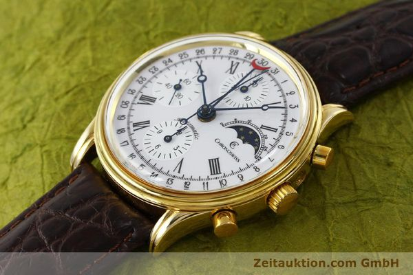 Used luxury watch Chronoswiss A. Rochat chronograph gold-plated automatic Kal. Valj. 7750 Ref. 77990  | 150172 01