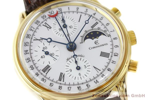Used luxury watch Chronoswiss A. Rochat chronograph gold-plated automatic Kal. Valj. 7750 Ref. 77990  | 150172 02