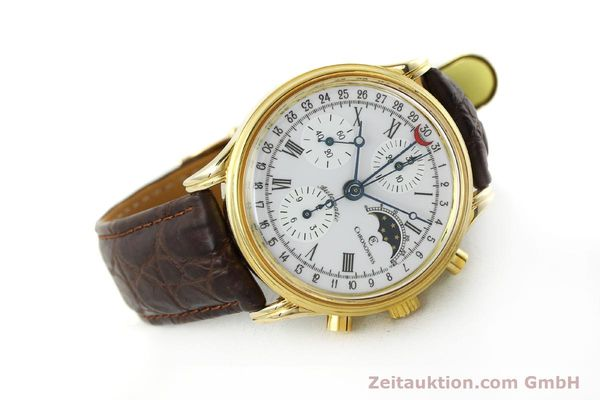 Used luxury watch Chronoswiss A. Rochat chronograph gold-plated automatic Kal. Valj. 7750 Ref. 77990  | 150172 03
