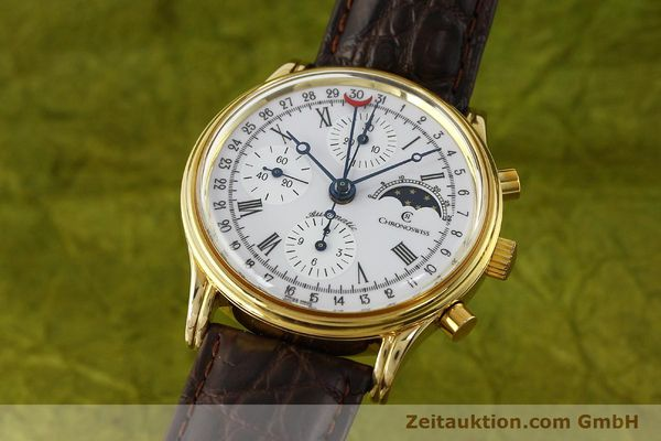 Used luxury watch Chronoswiss A. Rochat chronograph gold-plated automatic Kal. Valj. 7750 Ref. 77990  | 150172 04