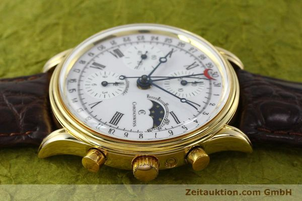 Used luxury watch Chronoswiss A. Rochat chronograph gold-plated automatic Kal. Valj. 7750 Ref. 77990  | 150172 05