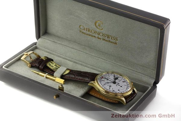 Used luxury watch Chronoswiss A. Rochat chronograph gold-plated automatic Kal. Valj. 7750 Ref. 77990  | 150172 07